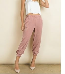 Pants - Silky Relaxed Fit Jogger Bottoms